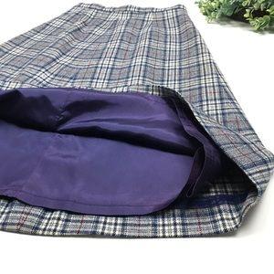 Pendleton Skirts - Vintage Pendleton | Navy Plaid 100% Wool Skirt